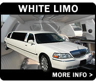 White Lincoln Town Cars